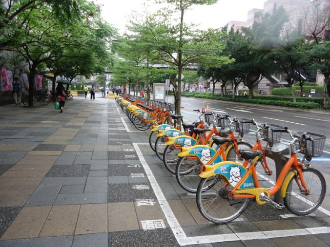 YouBike Station in Taipei City