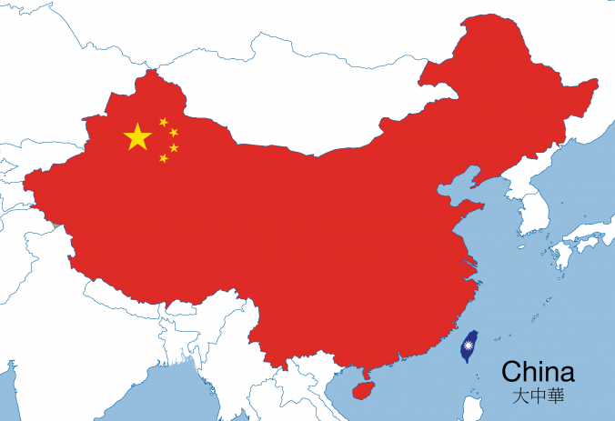 "Map of ""one China"""