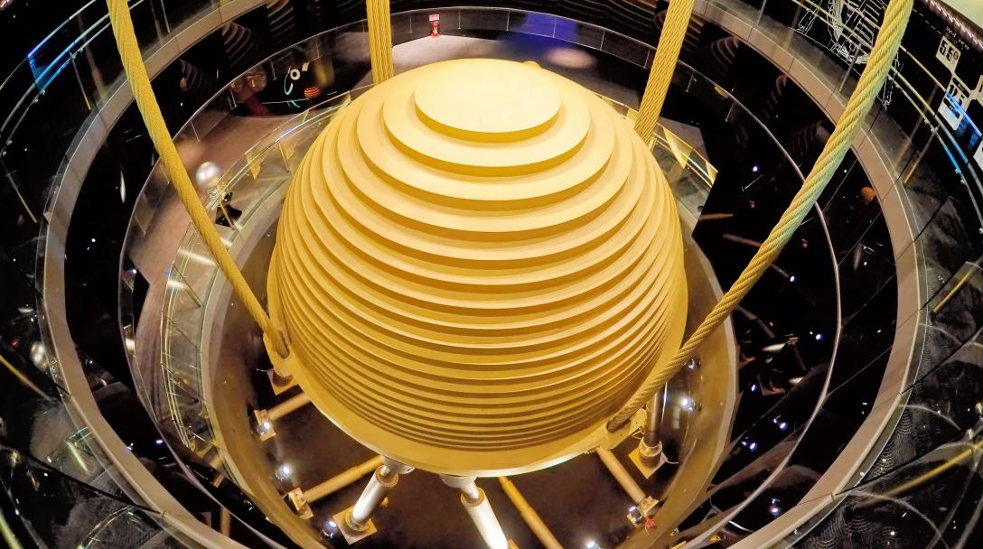 World's largest Tuned Mass Damper (世界最大風阻尼器)
