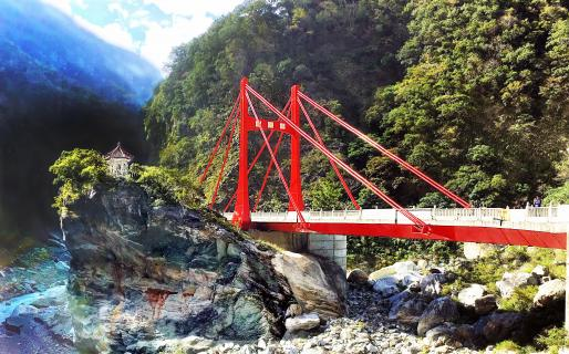 Taroko Cimu Bridge and Pavilion (太魯閣慈母橋與慈母亭)