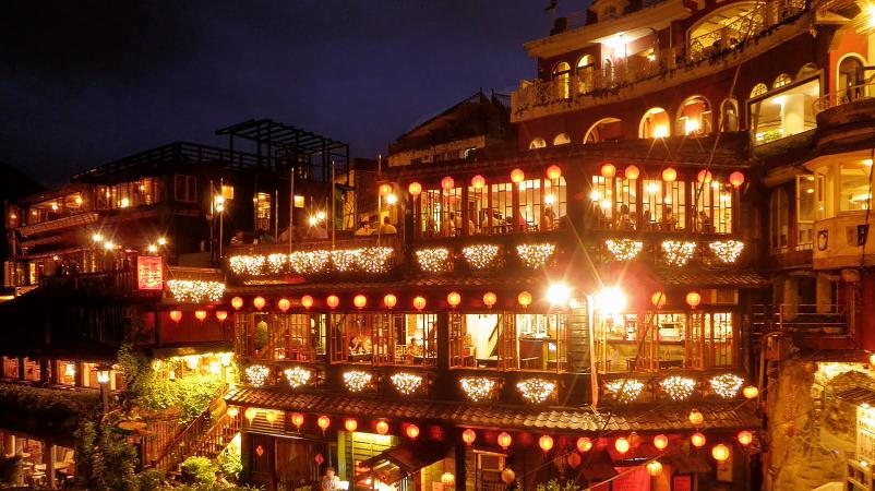 Jiufen Night Scene (九份夜景)